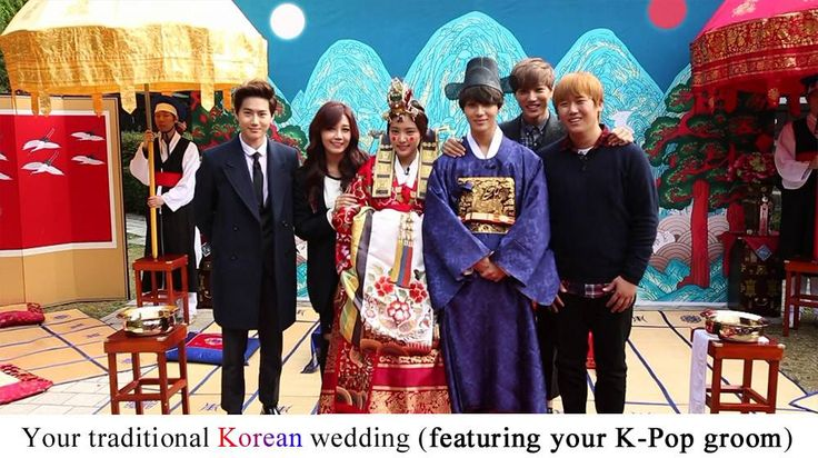 Your traditional Korean wedding (featuring your K-Pop groom) | http://www.allkpop.com/buzz/2015/07/your-traditional-korean-wedding-featuring-your-k-pop-groom