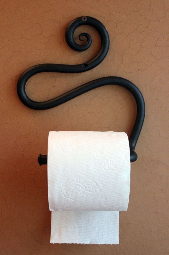 Hand-forged Wrought Iron Toilet Paper by AcornHillHandcrafts