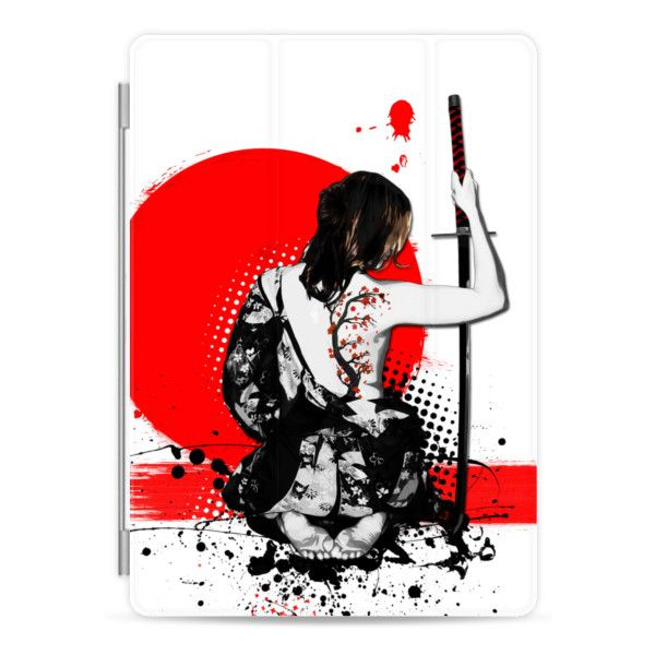 Trash Polka - Female Samurai - iPad Cover / Case (66 CAD) ❤ liked on Polyvore featuring accessories, tech accessories, ipad cover / case, ipad cases, ipad sleeve case, apple ipad cover case, ipad cover case and apple ipad case