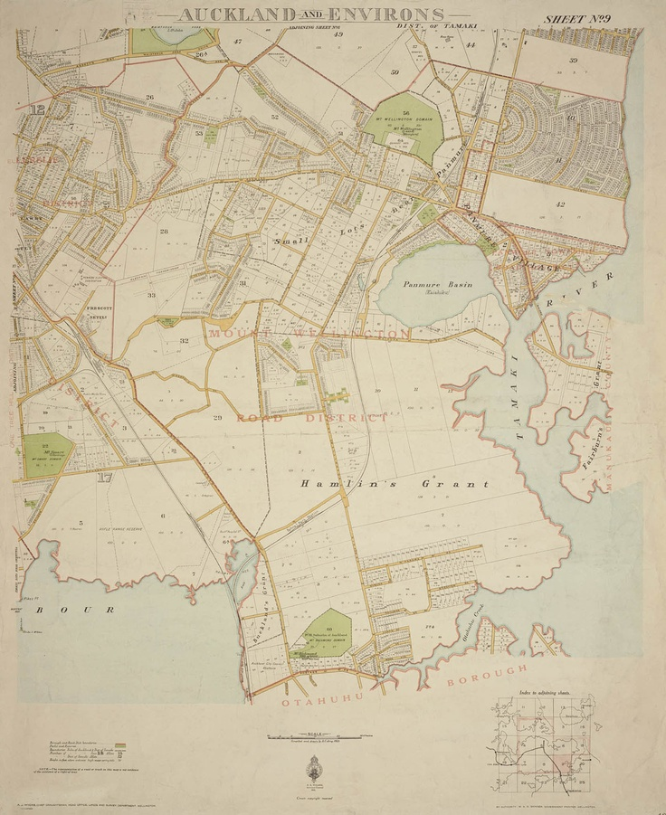 Part of a map of Auckland and Environs, 1924-1931.  Sir George Grey Special Collections, Auckland Libraries, NZ Map 71.