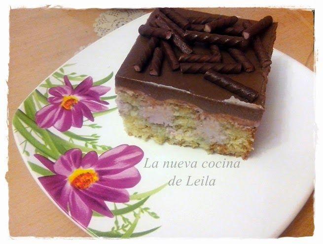 Poke cake con gelatina de chocolate