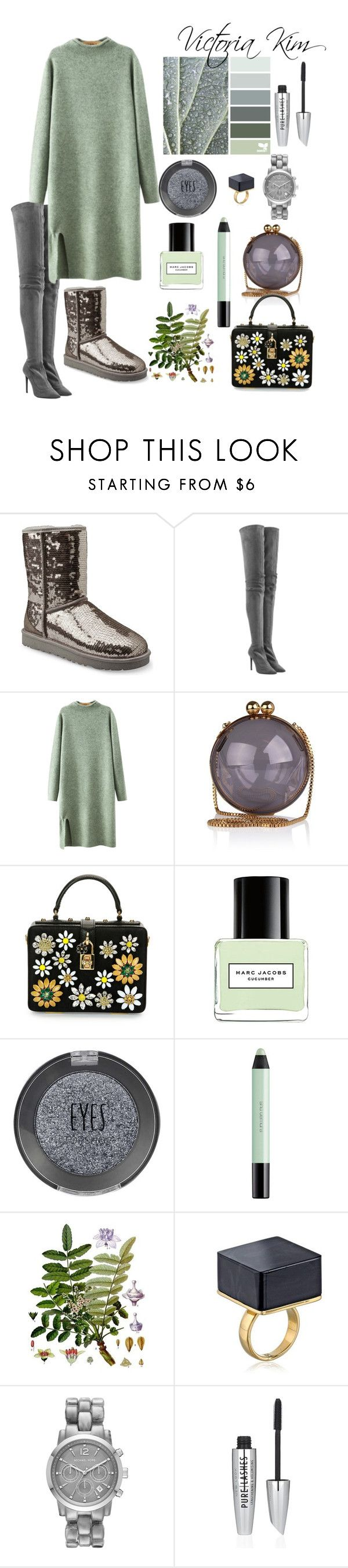 """Dress for winter"" by kimvictoria on Polyvore featuring UGG Australia, Tamara Mellon, Chicnova Fashion, Dolce&Gabbana, Marc Jacobs, Topshop, shu uemura, Michael Kors, women's clothing and women"