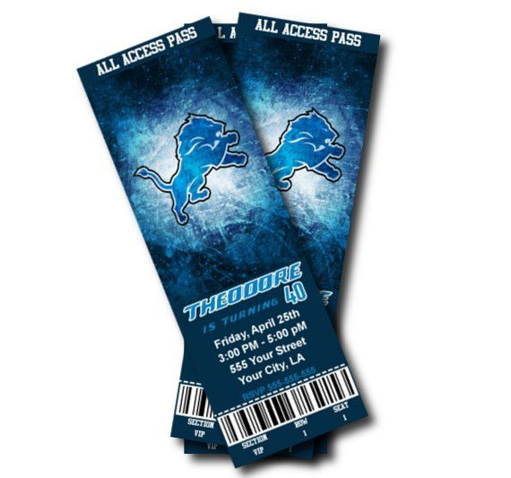 Printable Birthday Party Invitation Card Detroit Lions: Best 25+ Detroit Lions Tickets Ideas Only On Pinterest