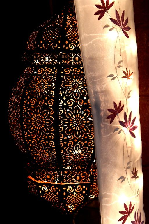 An absolutely stunning lantern casting its lovely glow.
