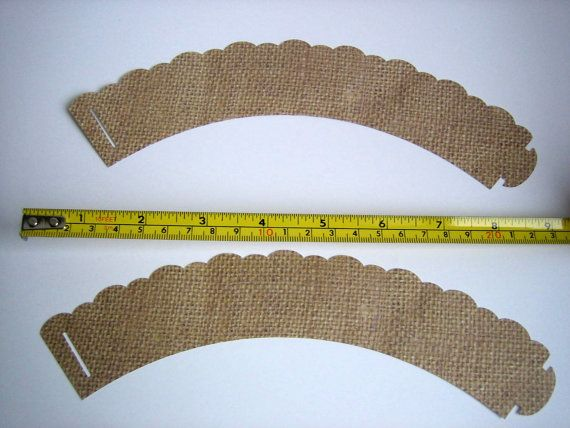Burlap Cupcake Wrappers Shabby Chic Rustic Fall by brightsoslight