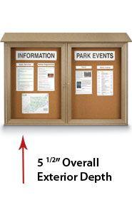 Outdoor Message Center Cork Board (Double Door)
