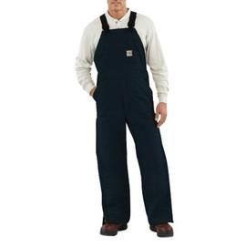 "Carhartt Size 32"" X 30"" Dark Navy Cotton/Duck Flame-Resistant Bib Overalls With Insulated Lining - Zipper Closure - Ankle-To-Thigh Brass Leg Zippers With Nomex Fr Zipper Tape - Protective Flaps With Arc-Resistant Snap Closures"