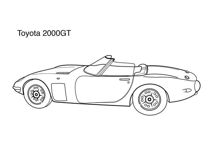 Cars Coloring Pages For Kids Super Car Toyota 2000gt