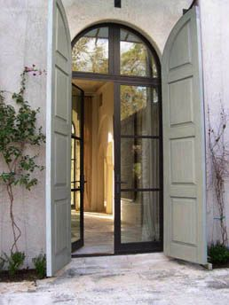 perfection, we visited a home were there were double doors that opened like this…