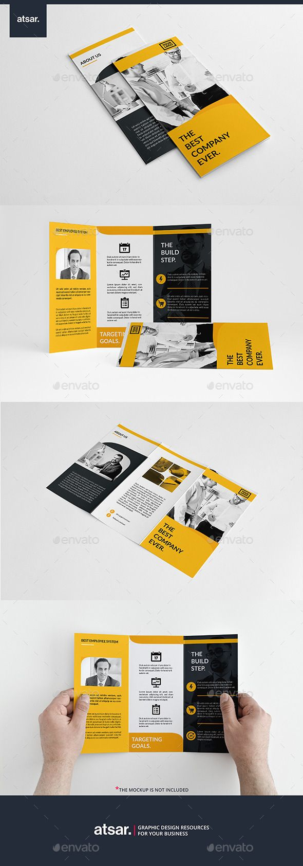 Simply Yellow Trifold InDesign Brochure Template #design Download: http://graphicriver.net/item/simply-yellow-trifold/12788181?ref=ksioks
