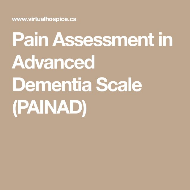 Pain Assessment in Advanced Dementia Scale (PAINAD)