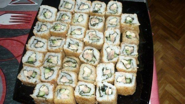 Фото к рецепту: Темпурные роллы