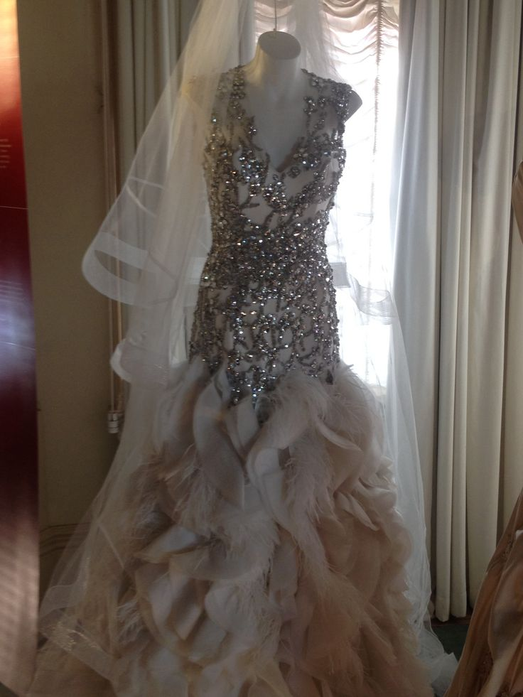 Kyly Clarke (nee Borley) bridal gown designed by Alex Perry