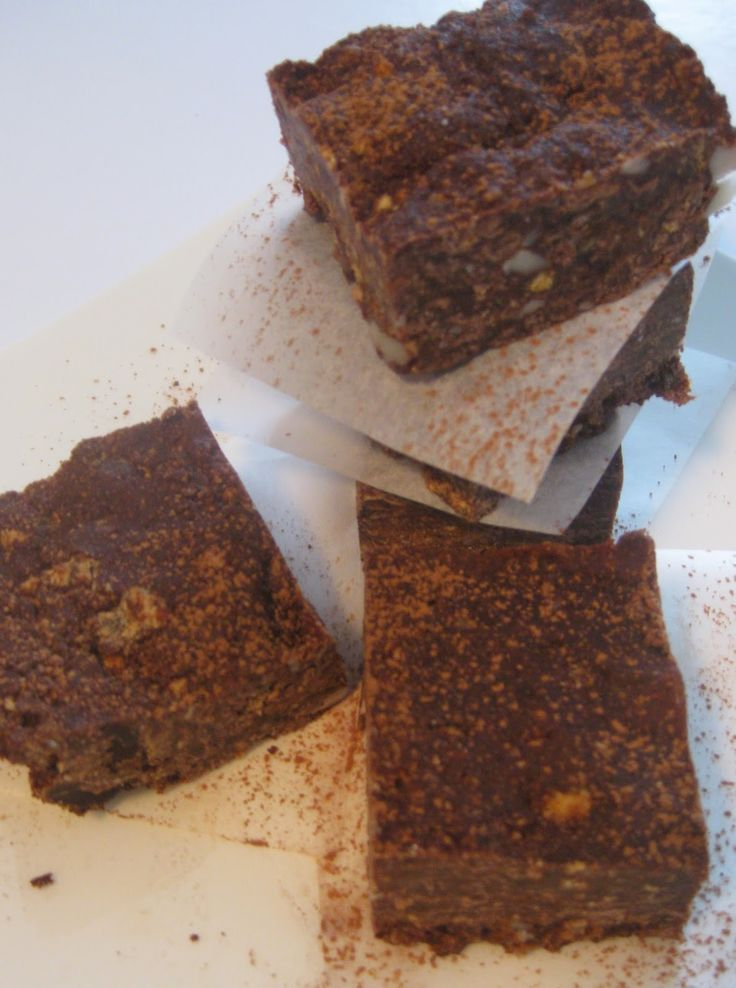 My Thermomix Kitchen - Blog for healthy low fat Weight Watchers friendly recipes for the Thermomix : Chewy Raw Brownie Slice
