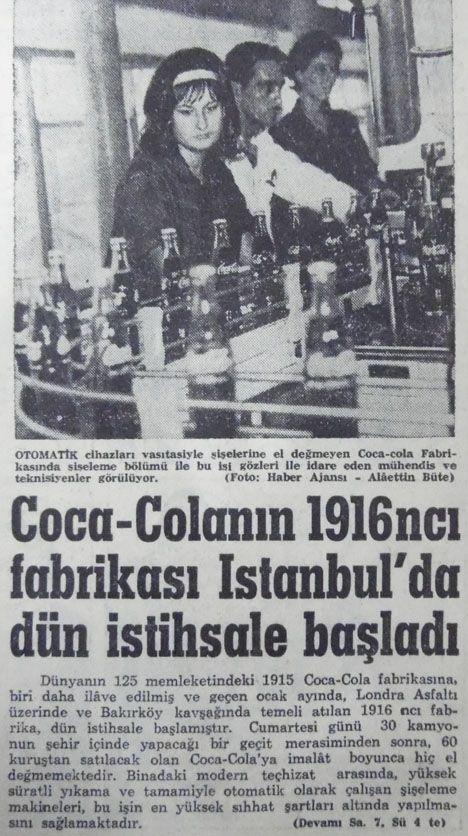 x....20 Eylül 1964, istanbulda-coca-colanin-fabrikasi-uretime-baslamis.