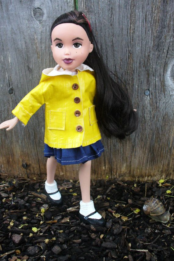 "Coat Sewing Pattern for 10 1/2 "" fashion dolls- will fit Bratz, Moxie girls, Skipper, Barbie's sister Chelsea and friends"