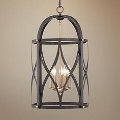 """Torrison 5-Light 16"""" Wide Dark Bronze Foyer Chandelier"""