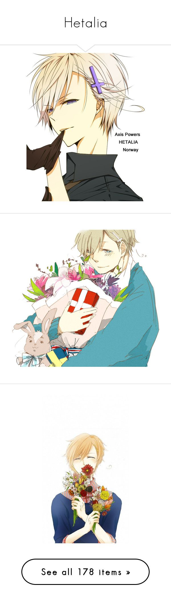 """Hetalia"" by chibi-space-gal ❤ liked on Polyvore featuring hetalia, norway, anime, drawings, render, characters, home, home decor, backgrounds and couples"