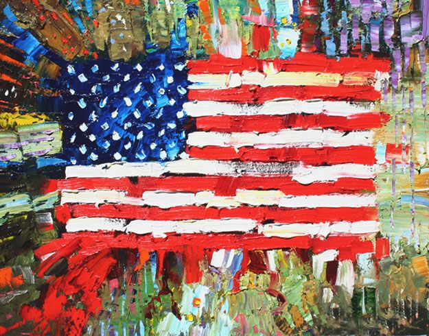 american flag painting - Google Search