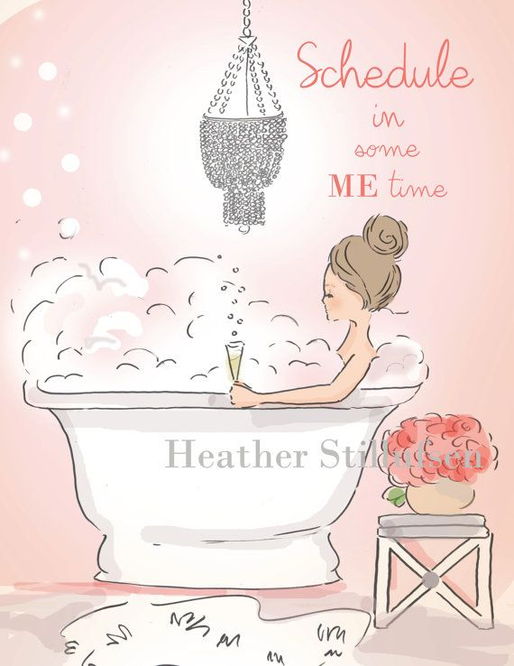 Me Time  Double Bubble  Art for Women  by RoseHillDesignStudio
