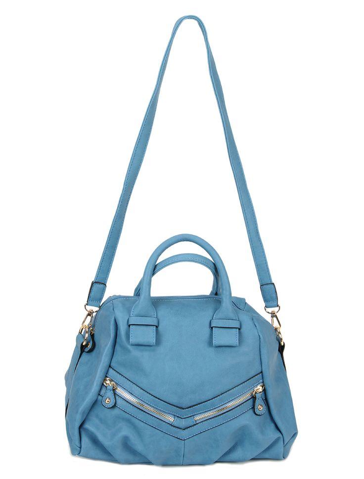 el çantası - Mavi Deri El Çantası