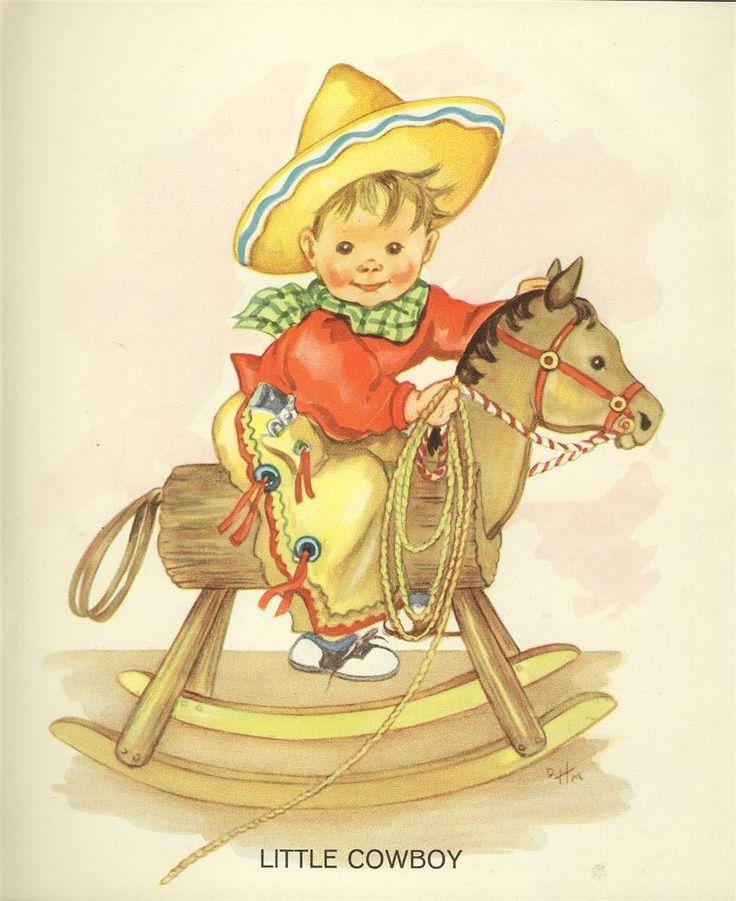 'Little Cowboy' ~ artwork from vintage Saalfield book