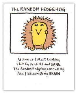The Random Hedgehog, Edward Monkton.