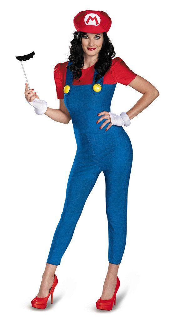 Super Mario Bros. - Mario Female Deluxe Plus Size Adult Costume