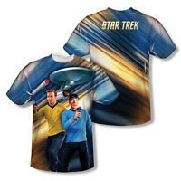 Star Trek Phasers Down Licensed All Over Sublimation Poly Adult Shirt S-3XL