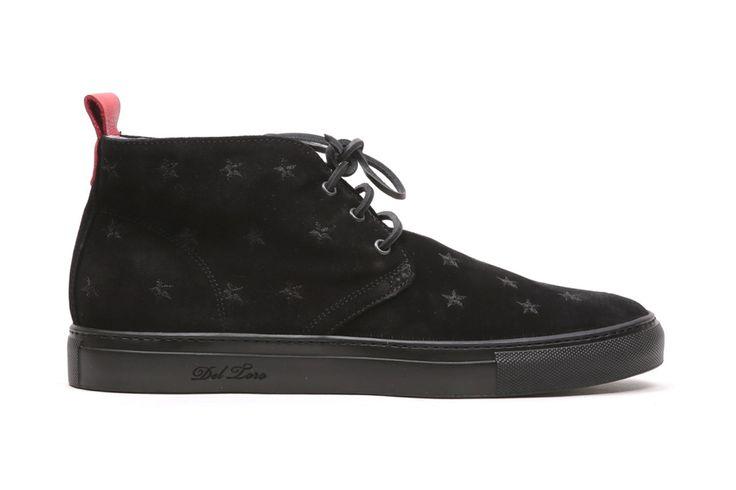 Image of Del Toro Black Stars and Suede Chukka Sneaker