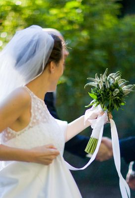 Beautiful Bride with Veronica Bouquet