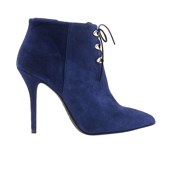 100449-BLUE SUEDE #mourtzi #ankleboots #suede #sexy www.mourtzi.com
