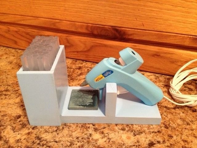 Small glue gun stand with glue storage! love it!!