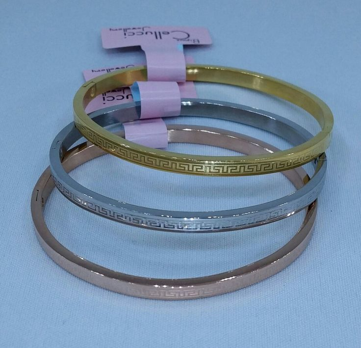 Versace stainless steel bracelets available  in 3 colors (  gold & silver) : Cellucci Jewellery ♡♡♡