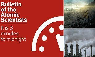 Doomsday Clock reads 11.57: Scientists move minute hand by 2 minutes