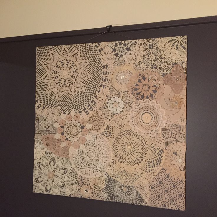Doily wallhanging