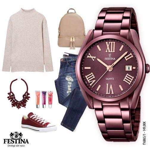 La scelta del look di ogni giorno rivela una parte della nostra personalità. Come avete abbinato oggi il vostro orologio Festina?