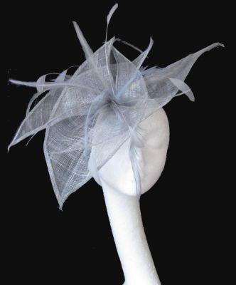 Silver Fascinator Hat