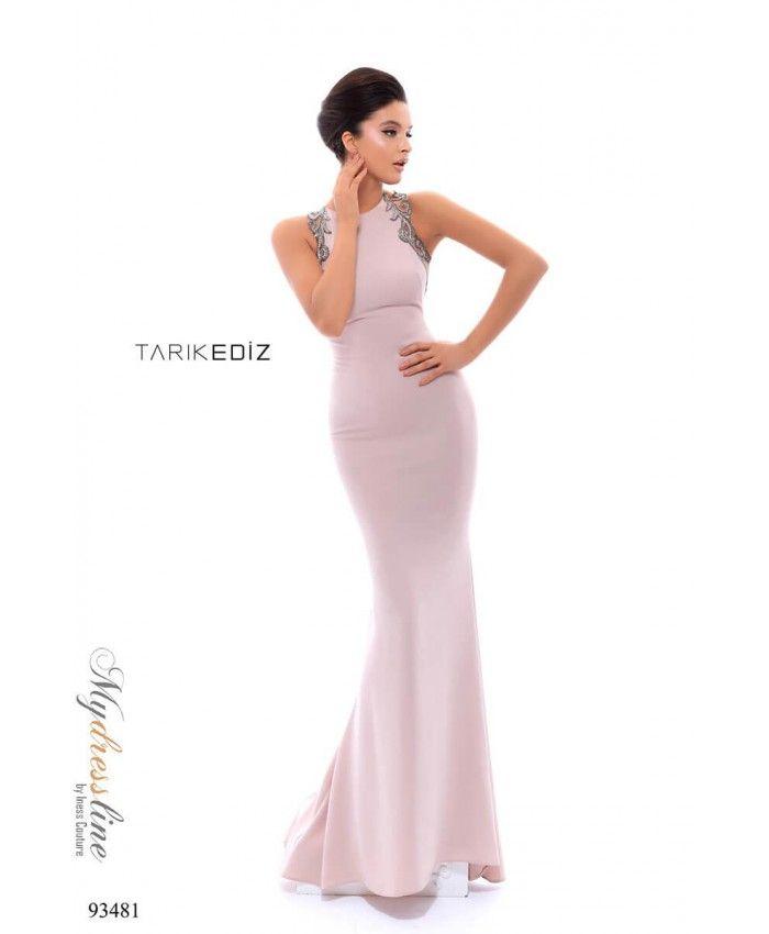 1ac432739f Tarik Ediz 93481 Spring 2018 Evening Couture Crepe Dress.