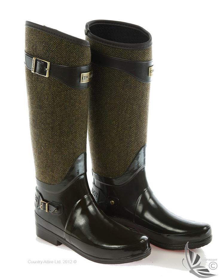 Hunter Ladies' Regent Apsley Wellington Boots - Chocolate