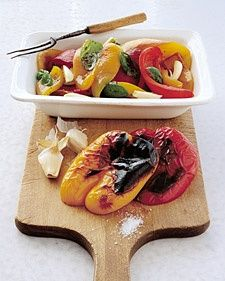These colorful peppers are great on sandwiches or in pasta dishes, or as part of an antipasto platter. The recipe can easily be doubled, and the peppers can be stored in an airtight container in the refrigerator for up to one week.