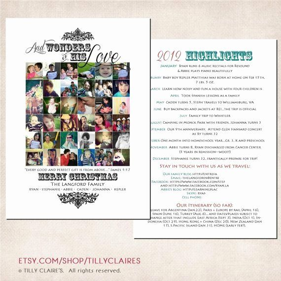 Family Reunion Newsletter Templates Free Fresh 2 Sided Custom Instagram Colla Christmas Holiday Photo Cards Christian Christmas Cards Christmas Letter Template