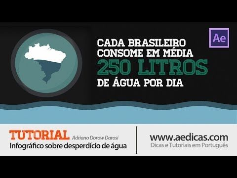 Tutorial After Effects em Português - Infográfico sobre Desperdicio de Agua - YouTube