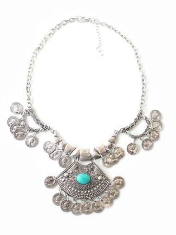 Collar Gypsy piedra turquesa - Turquía
