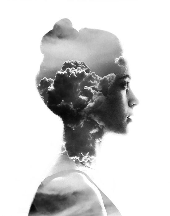 Double Exposure Portraits by Aneta Ivanova