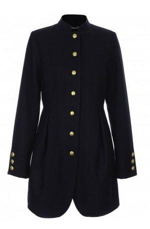 palton 2015 in stil military negru si bleumarin