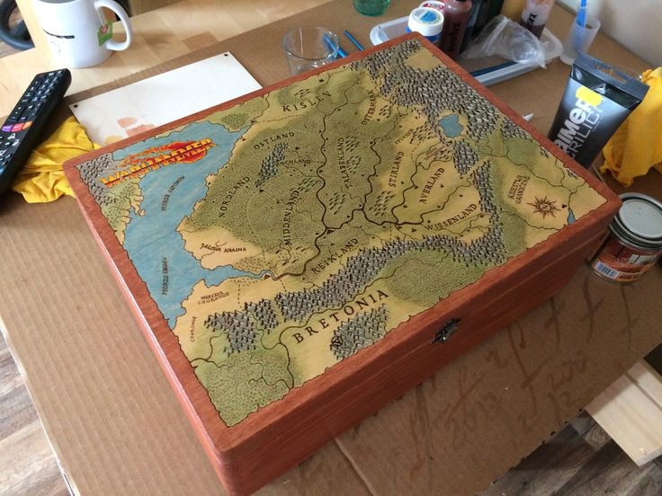 Wood box for the gamemaster.  #handcraft #handicraft #wood #box #warhammer #rpg #fcrafts