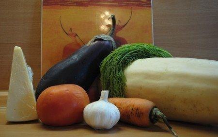 Фото к рецепту: Овощное ассорти, запеченное с сыром