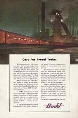 Pennsylvania RR Cars BUDD 1949 Leslie Ragan Art AD