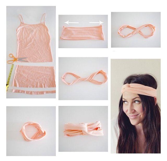 DIY Tshirt Headband ♥  Click here for more DIY inspiration!